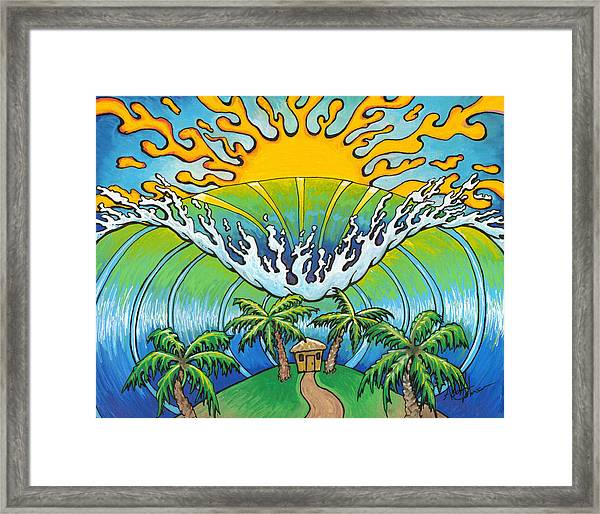 Hungry Wave Framed Print