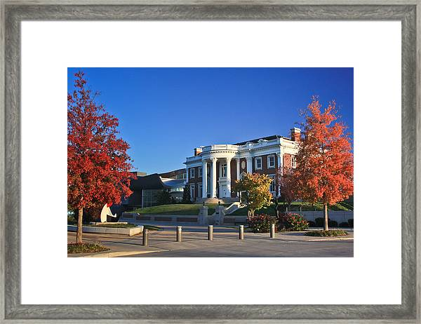 Hunter Museum In Autumn Framed Print