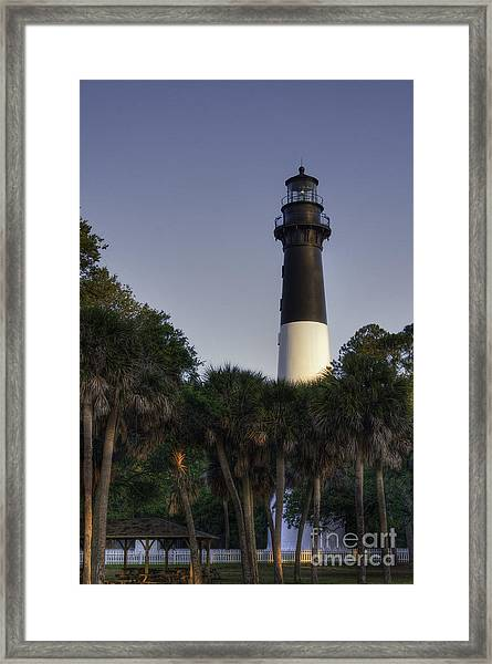 Hunting Island Light Framed Print