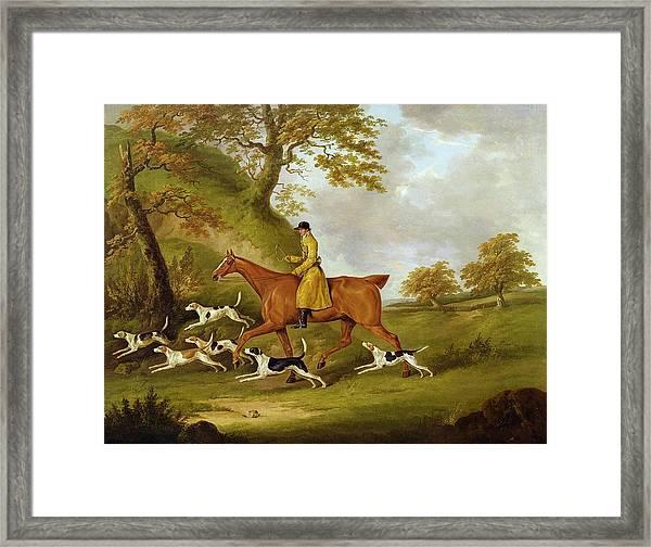 Huntsman And Hounds Framed Print
