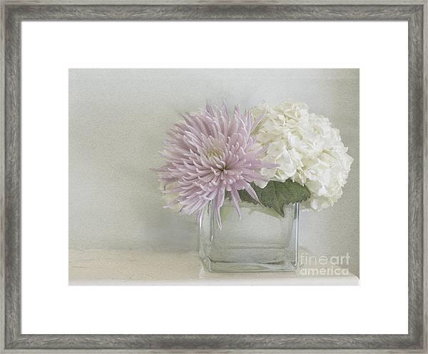 Hydrangea And Mum Framed Print