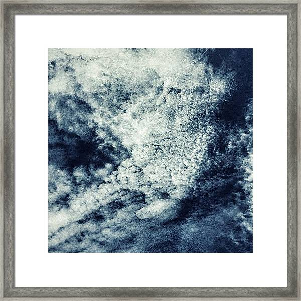 I Definitely See A Face In This; 2 Eyes Framed Print