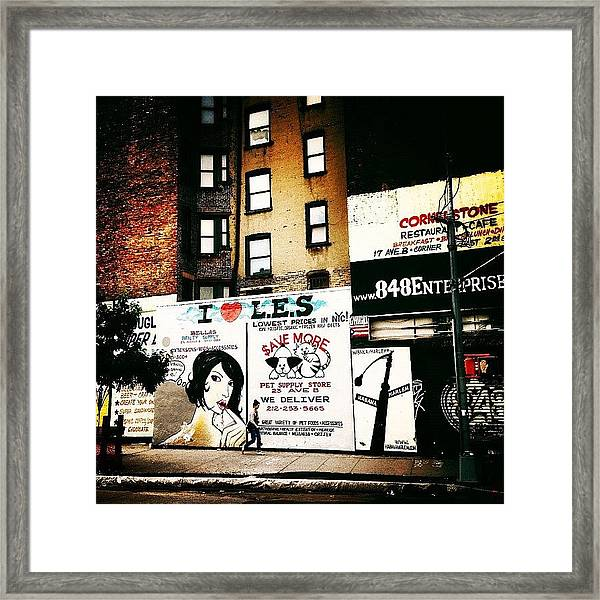 I Love The Lower East Side - New York City Framed Print