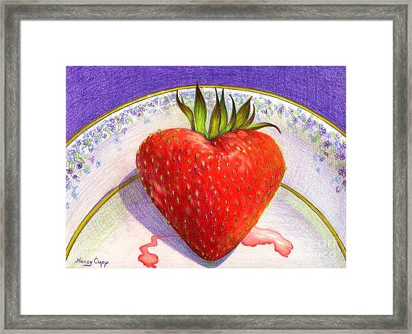 I Love You Berry Much Framed Print