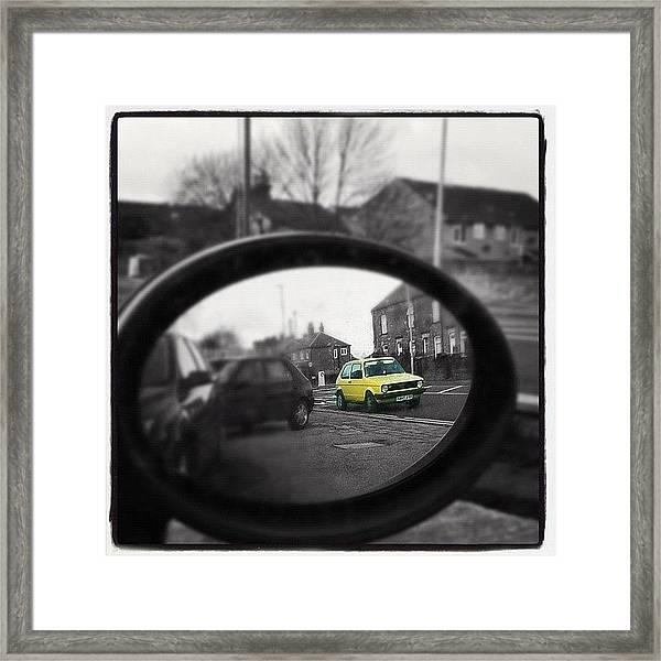 I Spy In My Wing Mirrors Eye... #mk1 Framed Print