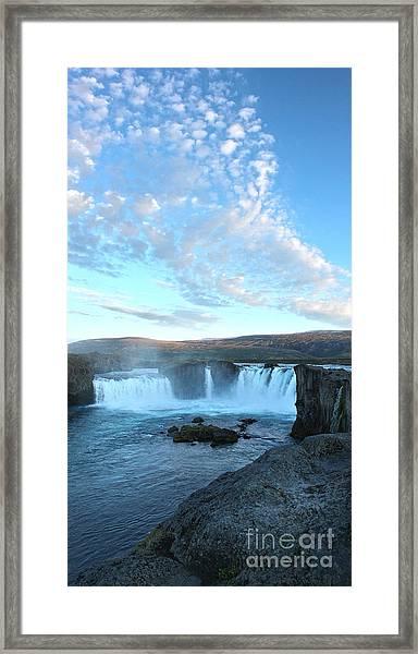 Iceland Godafoss Waterfall - 07 Framed Print