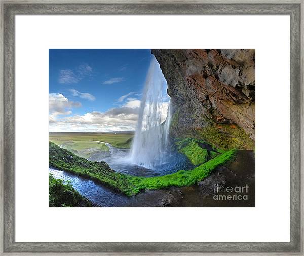 Iceland Waterfall Seljalandsfoss 02 Framed Print