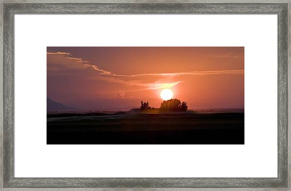 Idaho Sunset Framed Print