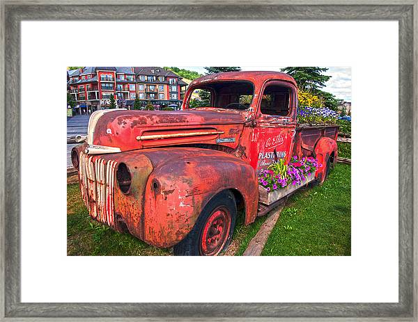 If You Cant Drive It Anymore   Turn It Into A Planter Framed Print