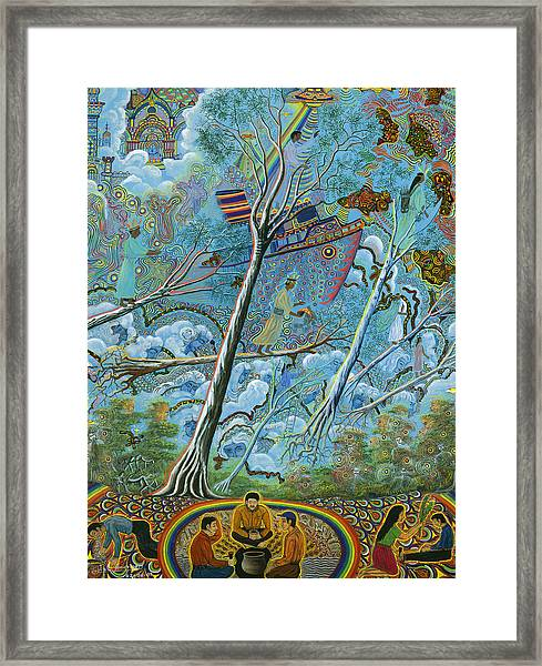 Framed Print featuring the painting Ila  by Pablo Amaringo