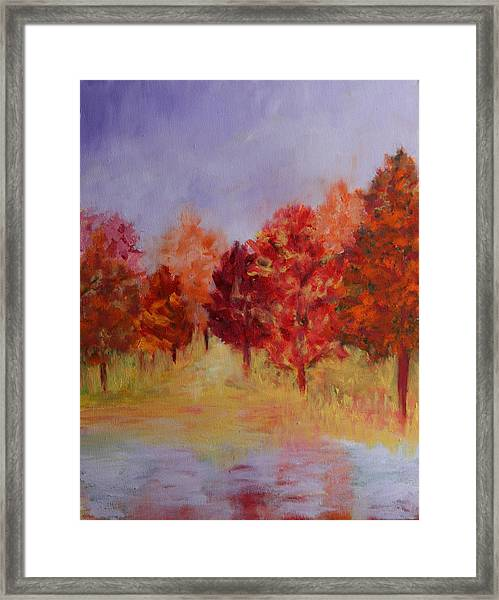 Impression Of Fall Framed Print