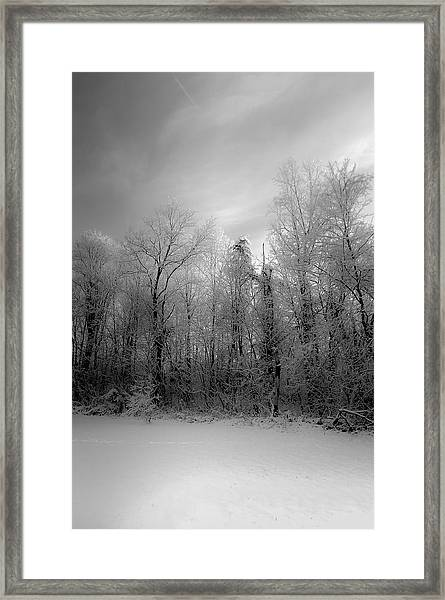 Impressionist Snow Framed Print