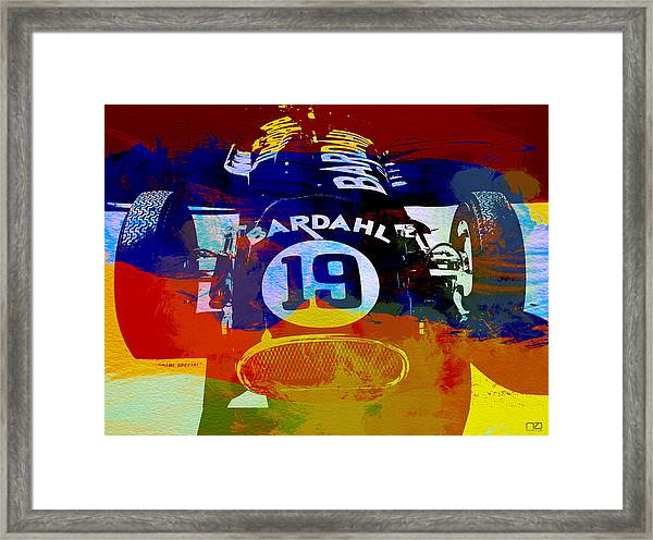 In Between The Races Framed Print