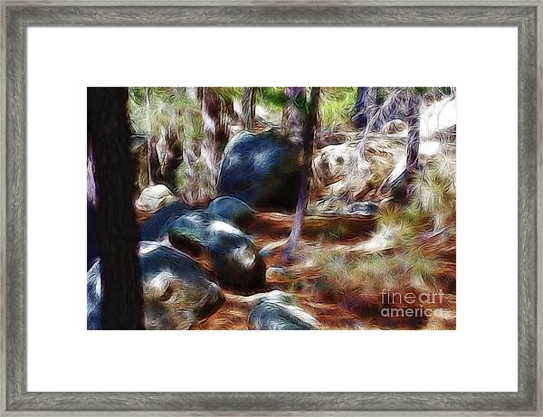 Incinerator Ridge Fractal Framed Print