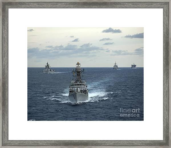 Indian Navy Corvette Ship Ins Kulish Framed Print