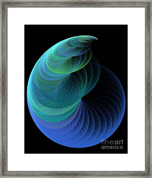 Infinity In Blue Framed Print