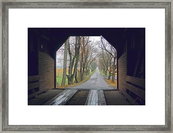 Inside Meems Bottom Bridge Framed Print by Williams-Cairns Photography LLC