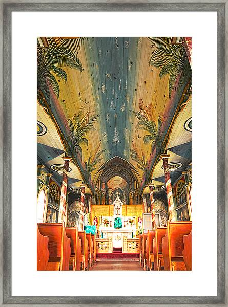 Inside The Painted Church Framed Print