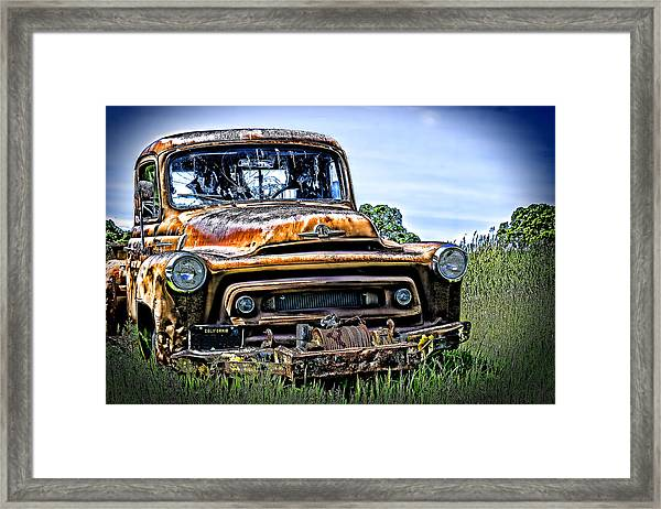 Framed Print featuring the photograph International Truck Alone And Rusting by William Havle