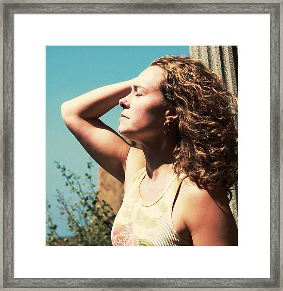 Framed Print featuring the photograph Into The Sun by Lorraine Devon Wilke