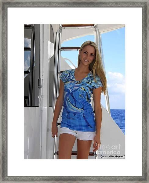 Intruder Ladies Dress Framed Print