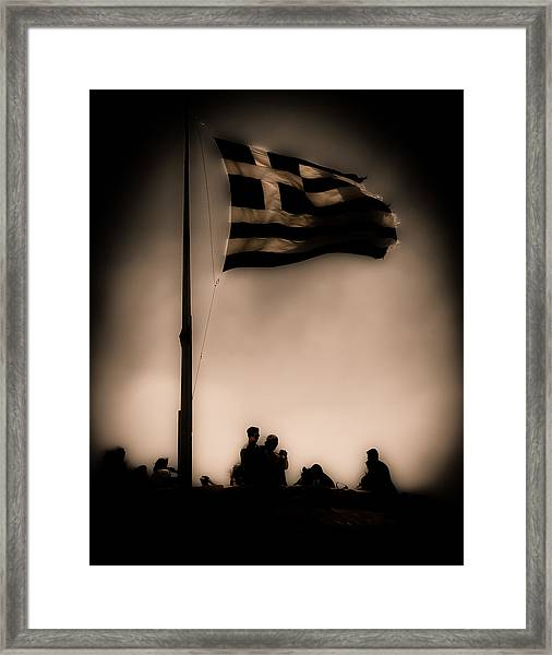 Athens, Greece - Invading Hoards Framed Print