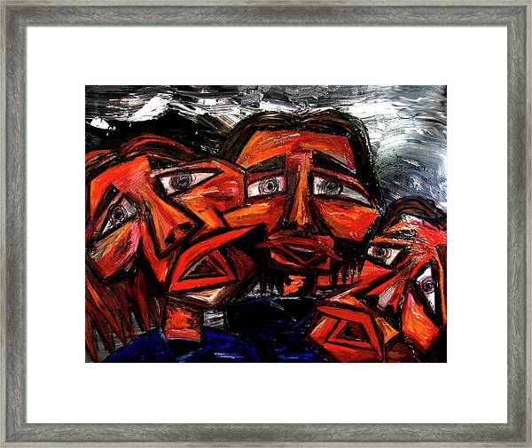 Is 3 Really A Crowd Framed Print