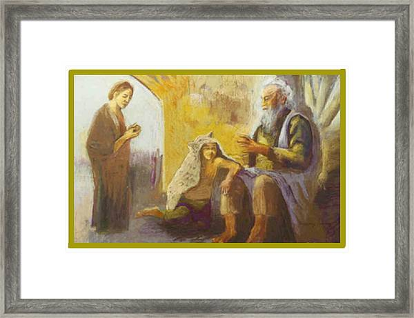 Isaac Blessing Of Jacob Framed Print