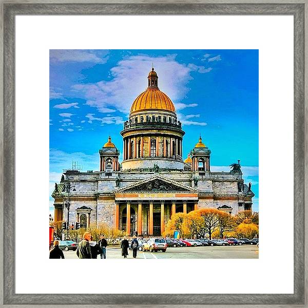 Isaak's Cathedral The Heaviest Framed Print