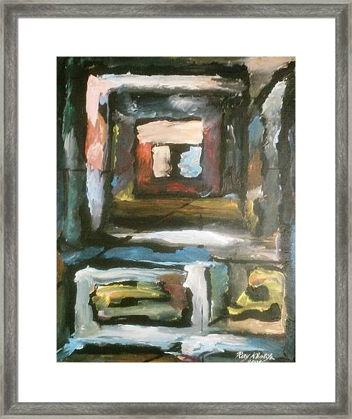 Framed Print featuring the painting Isolation by Ray Khalife