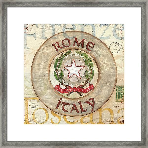 Italian Coat Of Arms Framed Print
