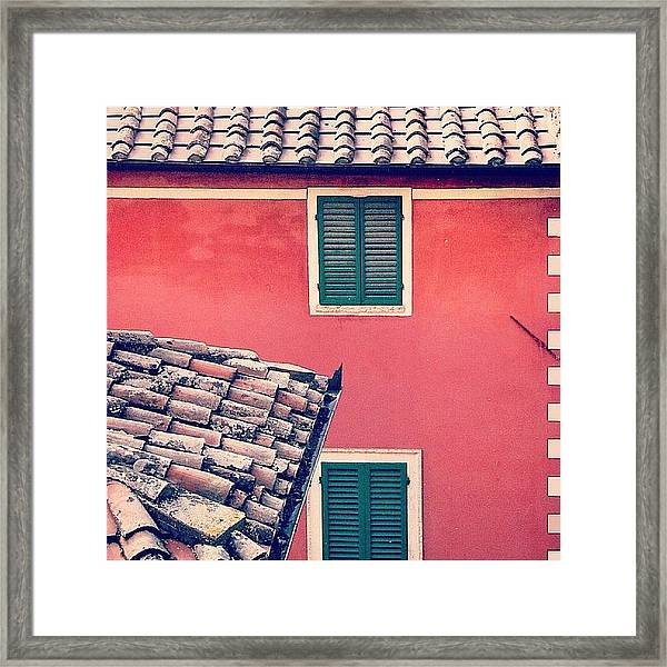 Italian Geometry #house #shutters Framed Print