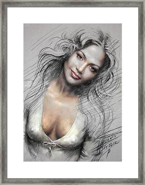 J L0 Framed Print