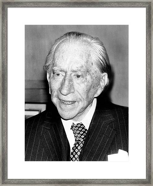 J. Paul Getty, 82, 5121975 Framed Print