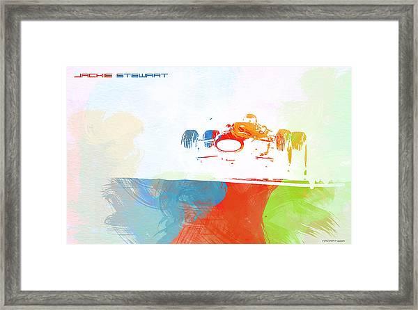 Jackie Stewart Framed Print