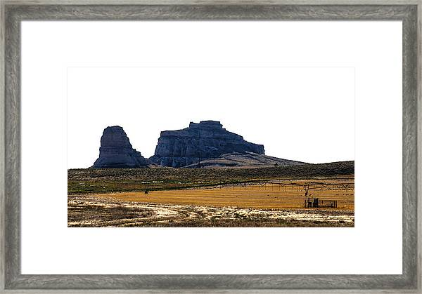 Jailhouse Rock And Courthouse Rock Framed Print
