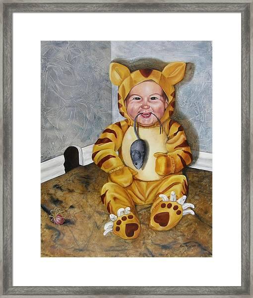 James-a-cat Framed Print