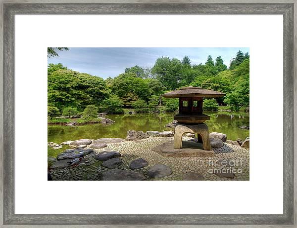 Japanese Garden -2 Framed Print