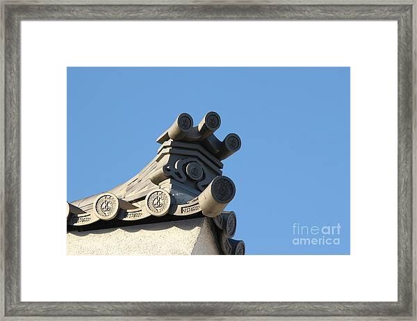 Japanese Rooftop Framed Print