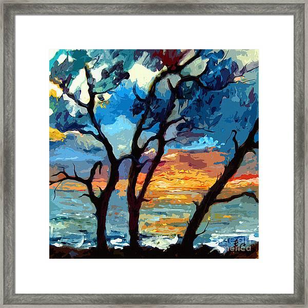 Jekyll Island Sunrise Painting Framed Print