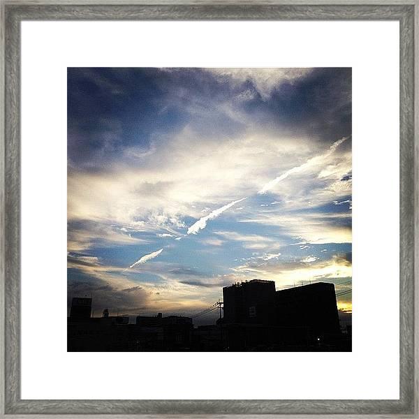 Jet Cloud Framed Print