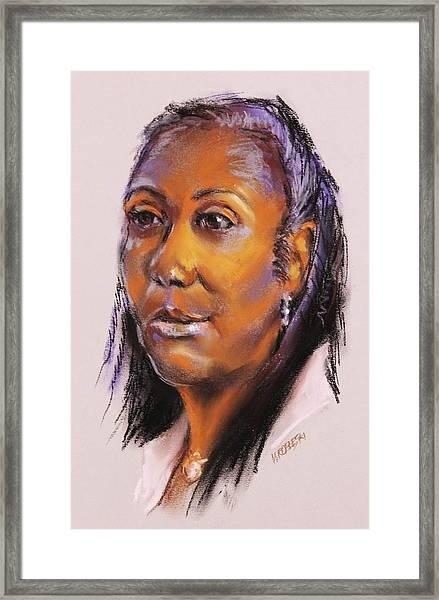 Joann Framed Print