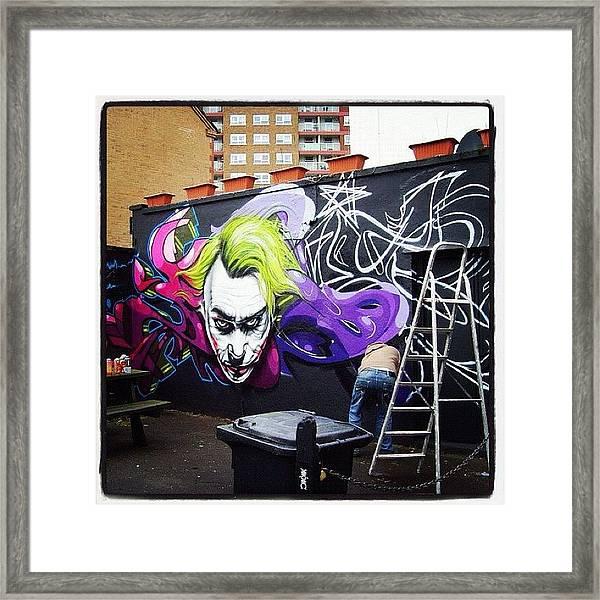 #jody#flx#bristolgraffiti #bristolart Framed Print