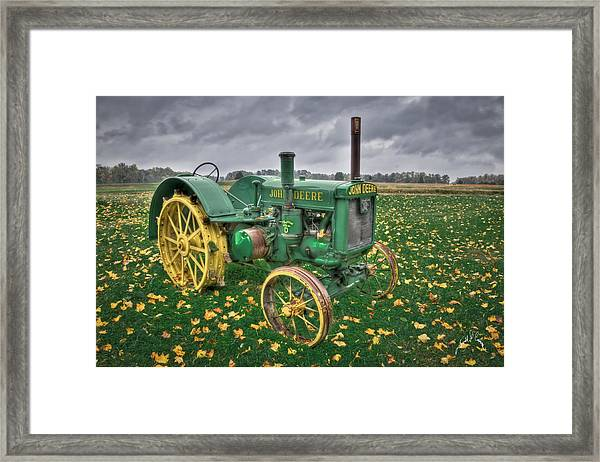 Framed Print featuring the photograph John Deere 1 by Williams-Cairns Photography LLC