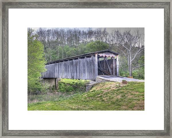 Johnson Creek Covered Bridge Framed Print