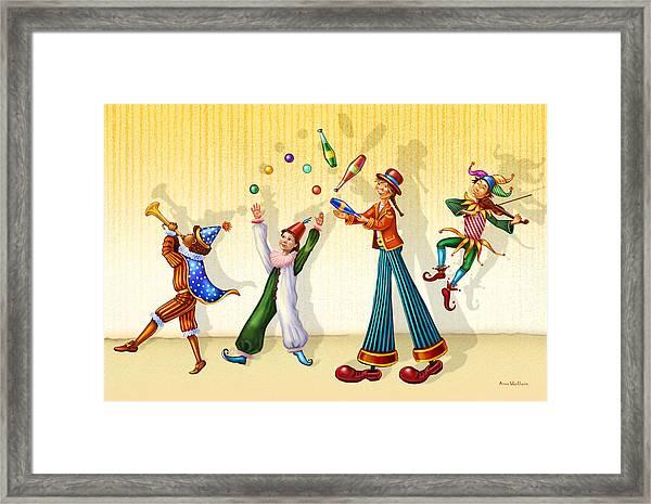 Juggling Company Framed Print