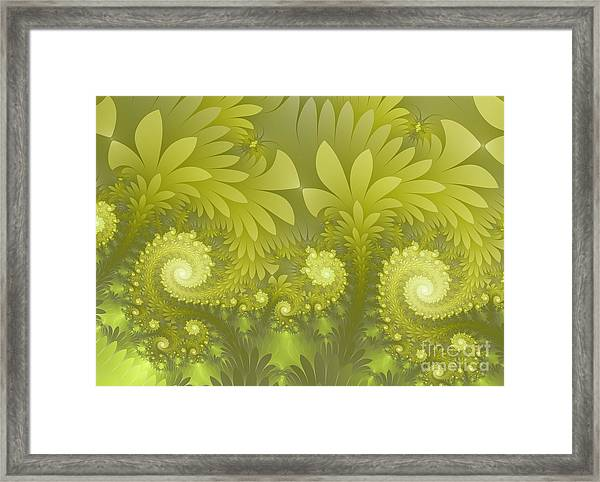 Jungle Green Framed Print