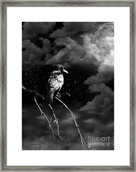 Just Another Moonlight Mile Framed Print