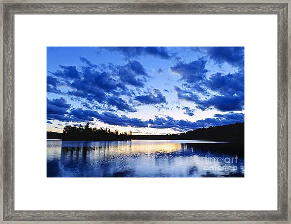 Just Before Nightfall Framed Print