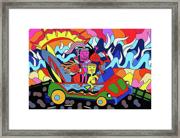 Just Crusing Framed Print